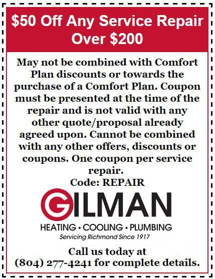 Gilman Heating U0026 Cooling  Coupon Disclaimers