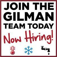 Join Gilman HVAC or Plumbing Team